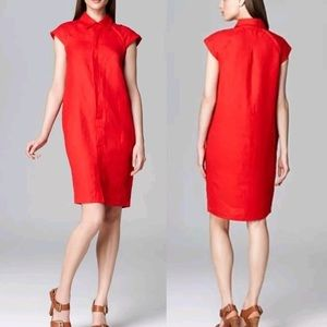 Jones New York Red Linen Dress